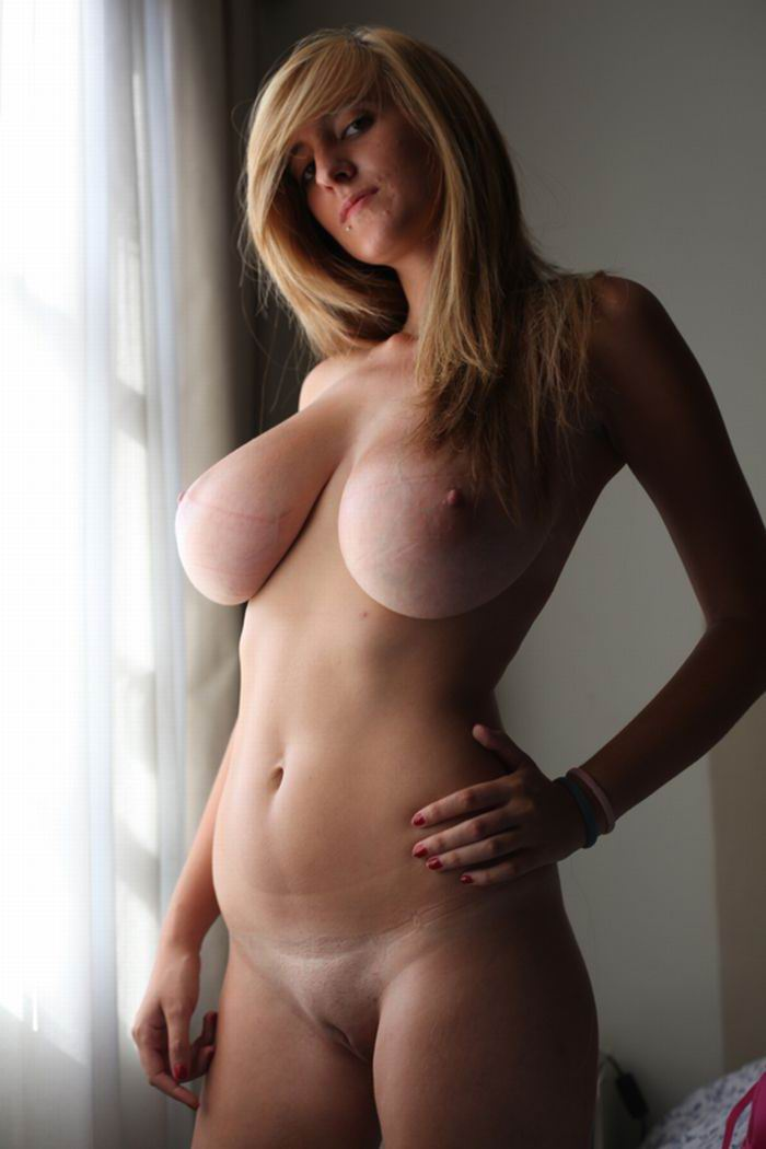 Girl with huge natural tits