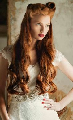 red hair victory rolls lovely long hair this is the hairstyle i like