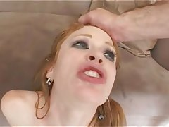 redhead madison loves a rough anal double penetration hardcore redhead threesome