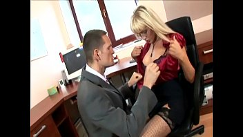 secretary in thigh highs fucking at the office 2