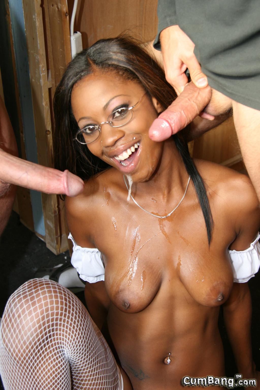 Ebony Girl Anal Creampie