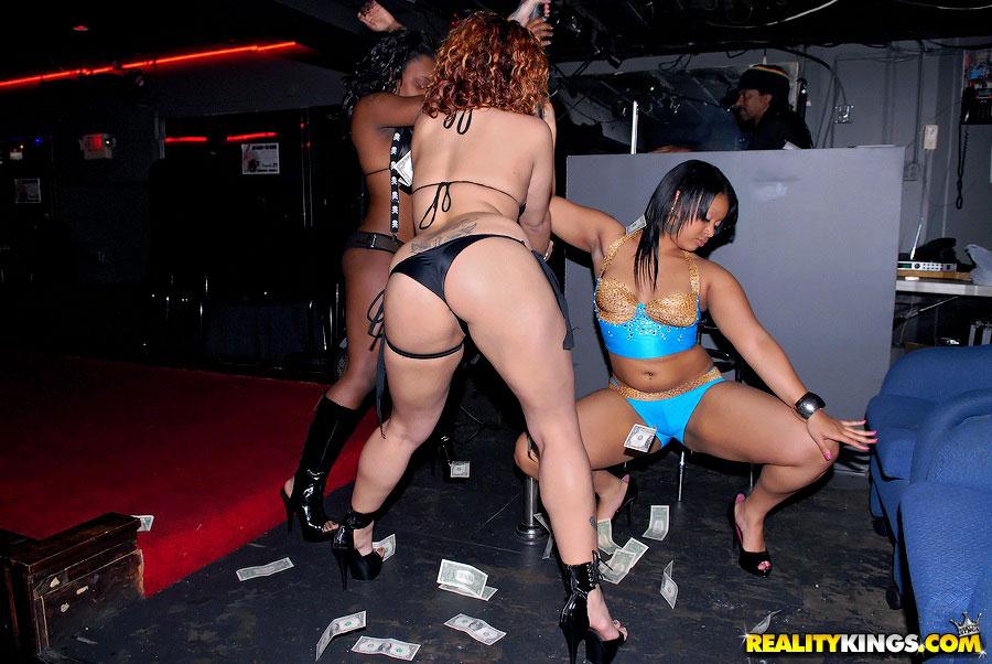 Big Booty Ebony Stripper Orgy