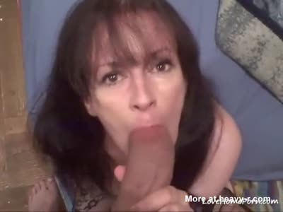 sucking on the biggest dick shes seen