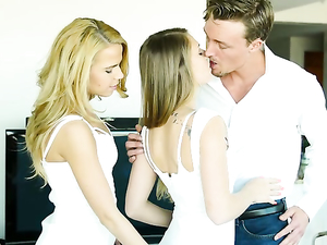 teen sluts are for his pleasure in a threesome porn pros