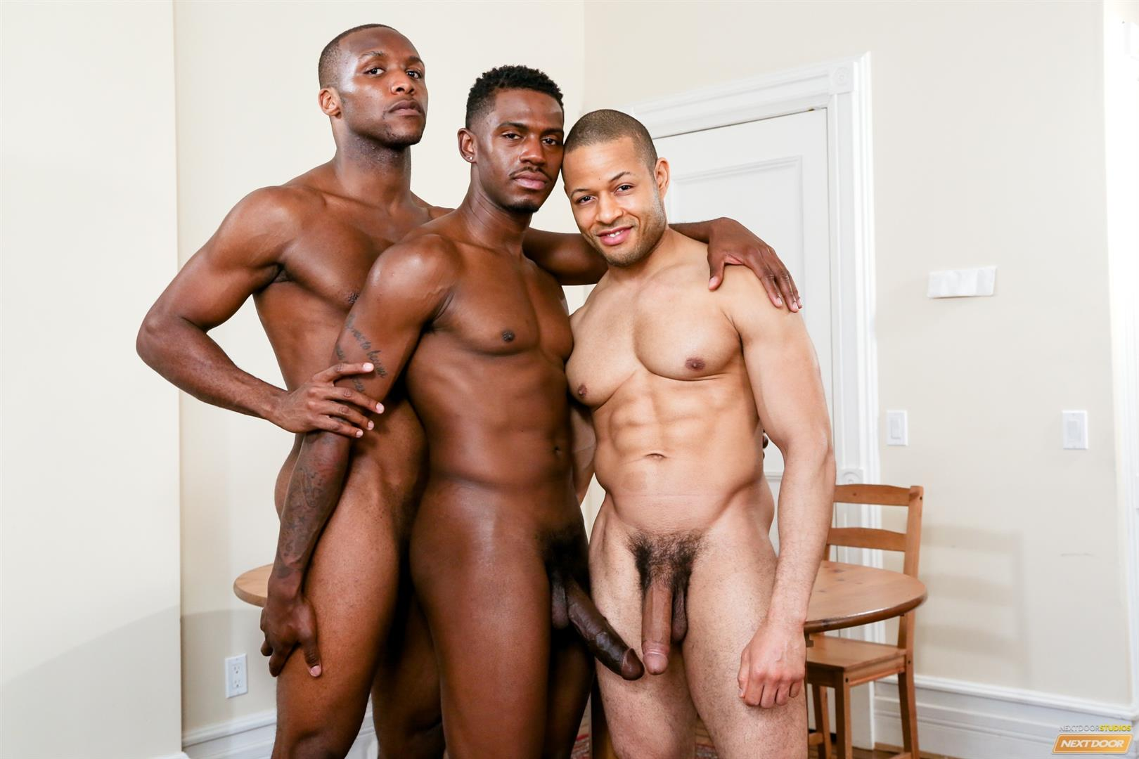 Sexy black man masturbating
