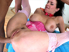 veronica avluv squirting while being fucked in the ass
