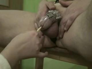 chastity belt cumshot