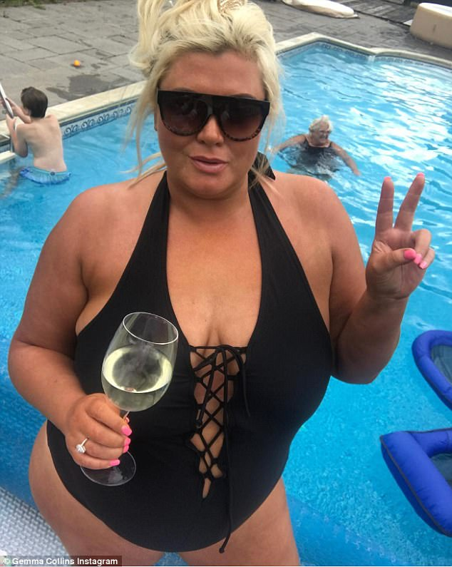 wish i had her confidence gemma flaunted her curves in a very racy