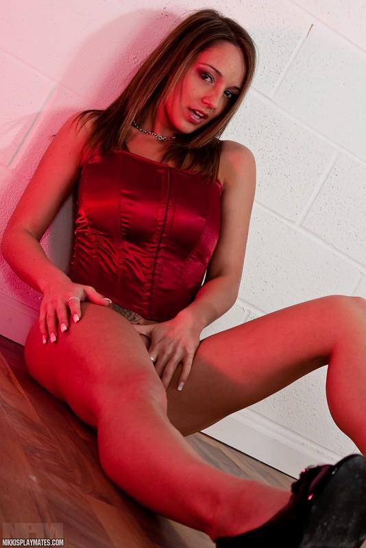 xxx corset red gold nikki sims red corset bare tits